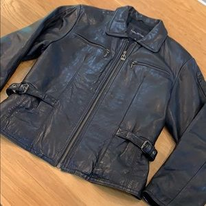 Halston Stunning Classic Leather Jacket